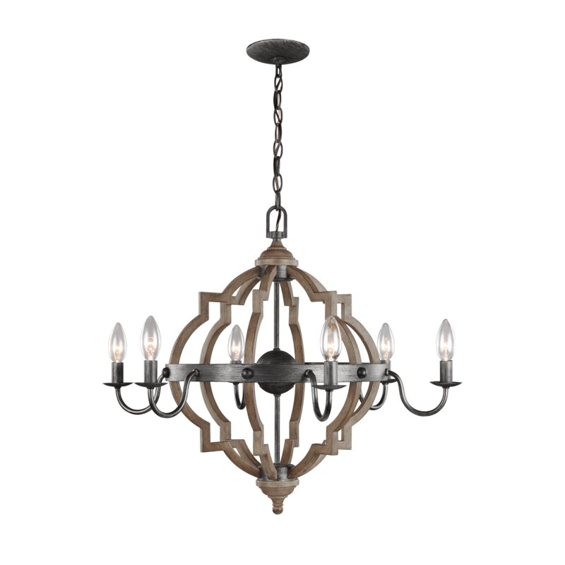 Donna 6 Light Globe Chandeliers Regarding Latest Donna 6 Light Candle Style Chandelier (Gallery 6 of 25)