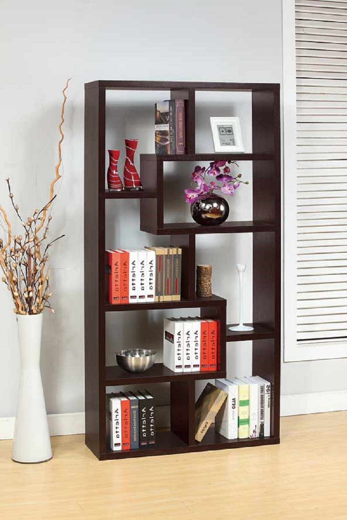 Duley Geometric Bookcase In Favorite Ansley Geometric Bookcases (View 6 of 20)