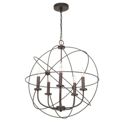 Eastbourne 6 Light Unique / Statement Chandeliers Intended For Most Recently Released Canarm Summerside 5 Light Oil Rubbed Bronze Chandelier (View 19 of 25)