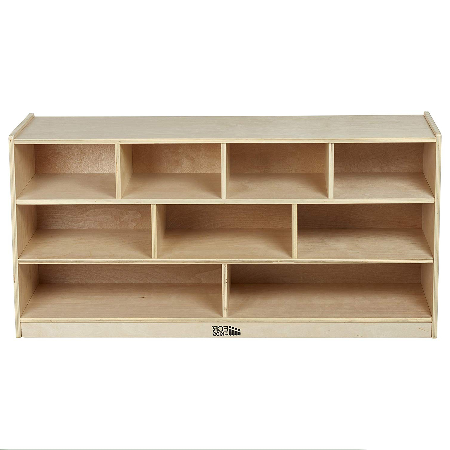 """Ecr4Kids Birch 9 Cubby School Classroom Block Storage Cabinet With Casters,  Natural, 48"""" W With Regard To 2020 Classroom Cubby Standard Bookcases (Gallery 2 of 20)"""