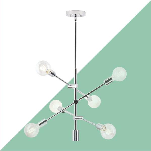 Eladia 6 Light Sputnik Chandelier For Recent Eladia 6 Light Sputnik Chandeliers (View 4 of 25)