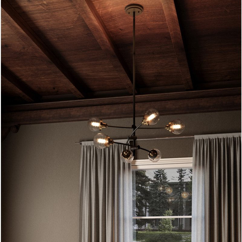 Eladia 6 Light Sputnik Chandeliers Intended For Preferred Brucie 6 Light Chandelier (Gallery 23 of 25)