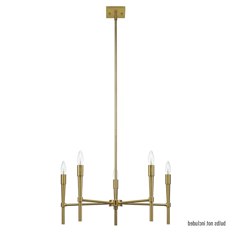 Elena 5 Light Candle Style Chandelier For Latest Hesse 5 Light Candle Style Chandeliers (View 5 of 25)