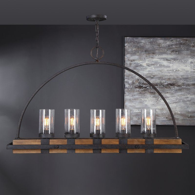 Ellenton 4 Light Rectangle Chandeliers Intended For Most Recently Released Stoltzfus Linear 5 Light Rectangle Chandelier In 2019 (Gallery 25 of 25)