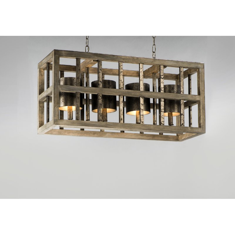 Ellenton 4 Light Rectangle Chandeliers Regarding Most Popular Louison 4 Light Square/rectangle Chandelier (Gallery 17 of 25)