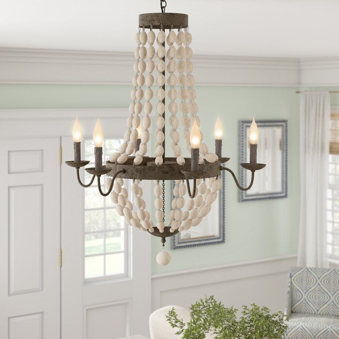 Empire Throughout Current Phifer 6 Light Empire Chandeliers (Gallery 5 of 25)