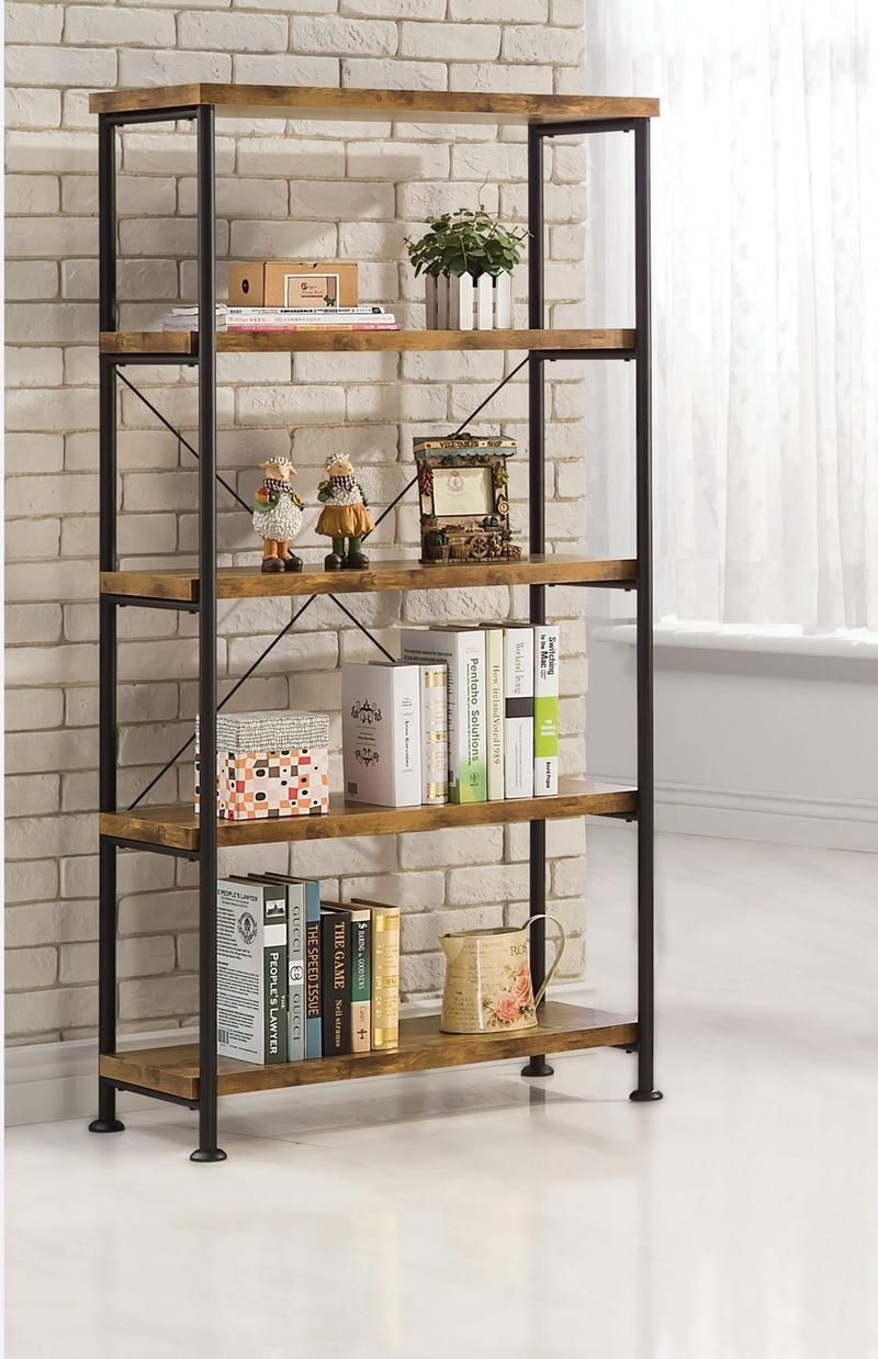 Epineux Etagere Bookcases In Well Known Coaster Industrial Black Metal Bookcase Las Vegas Furniture (View 12 of 20)