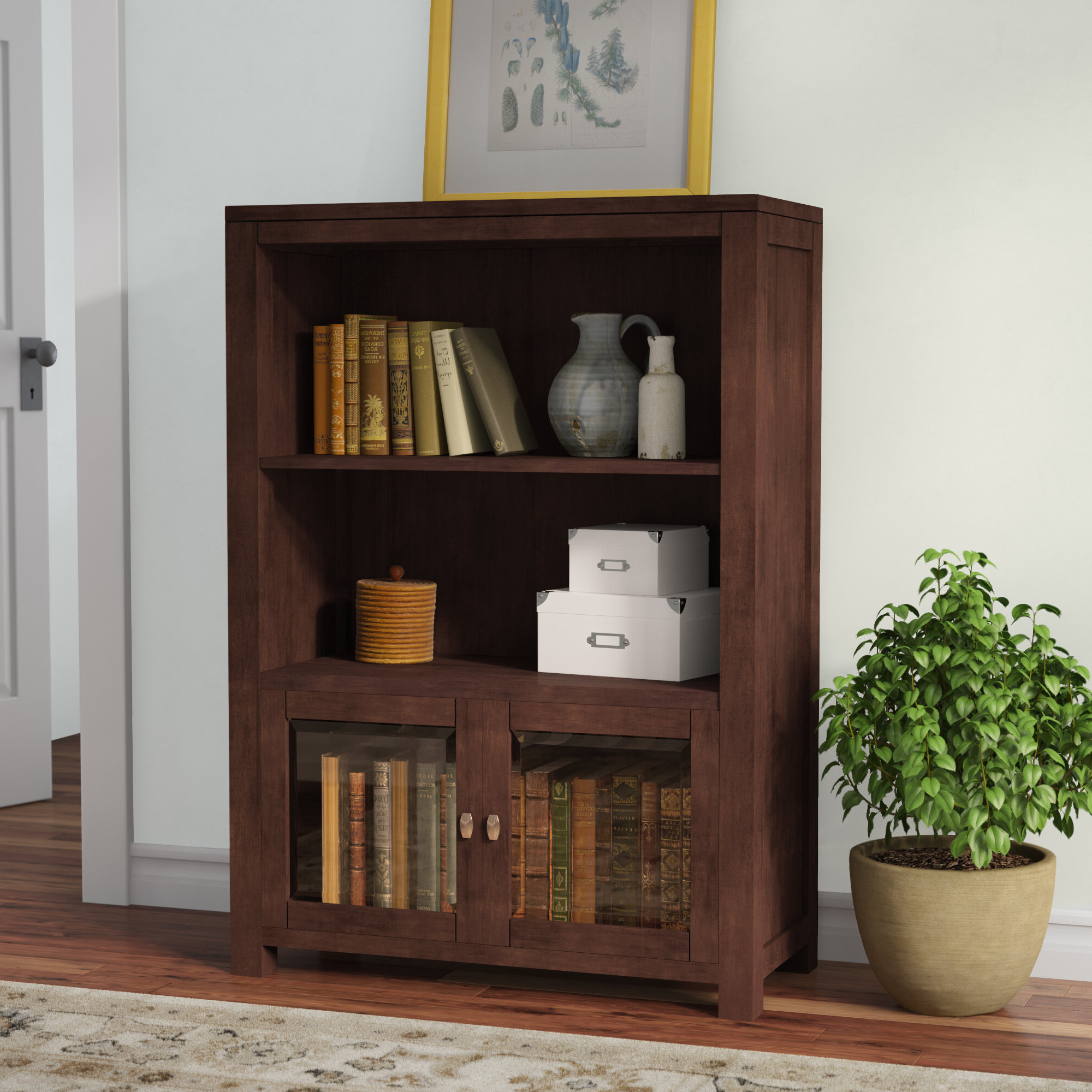 Erskine Standard Bookcase With Regard To Widely Used Abigail Standard Bookcases (Gallery 16 of 20)