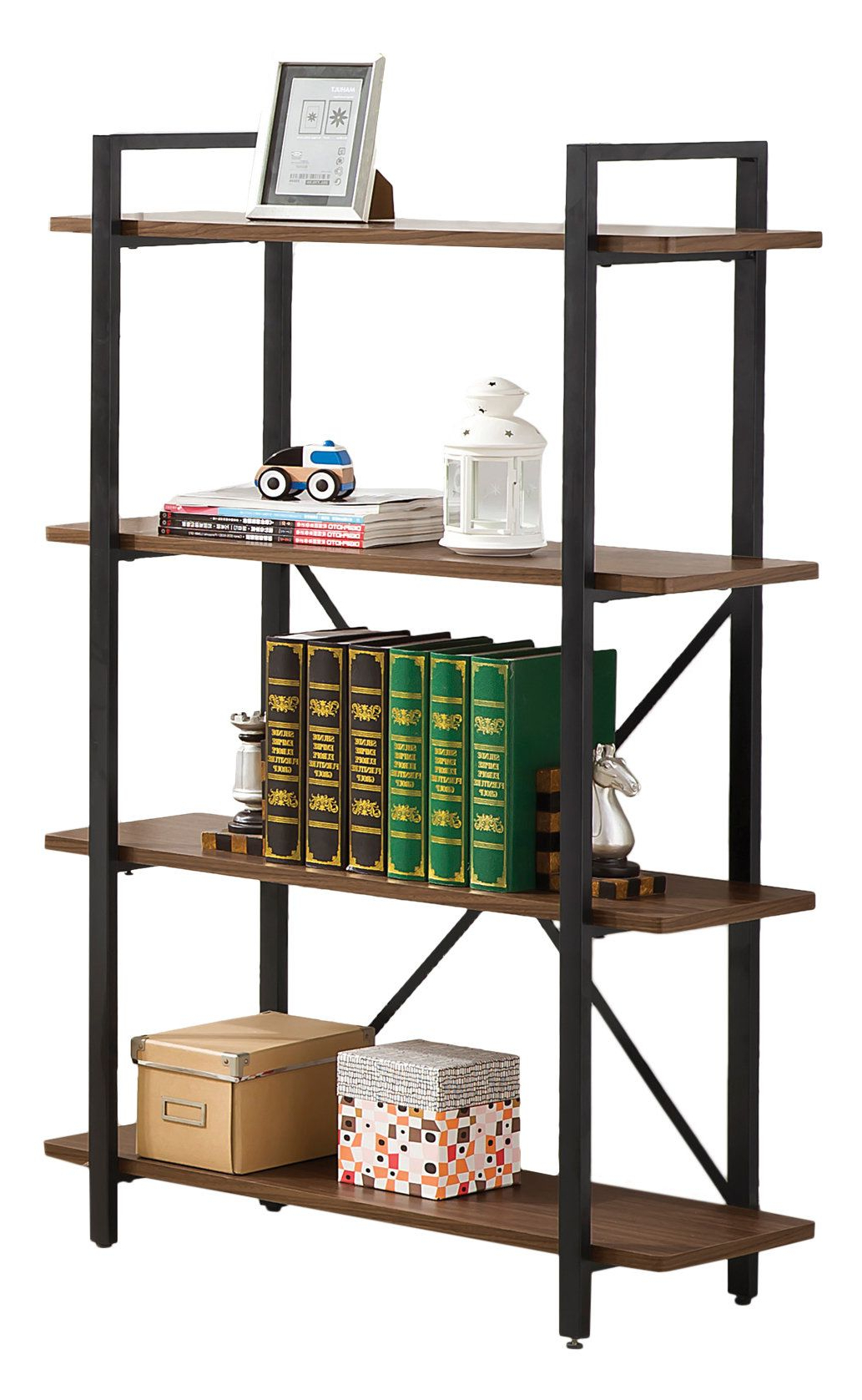 Etagere Bookcase, Black Intended For Rocklin Etagere Bookcases (View 4 of 20)