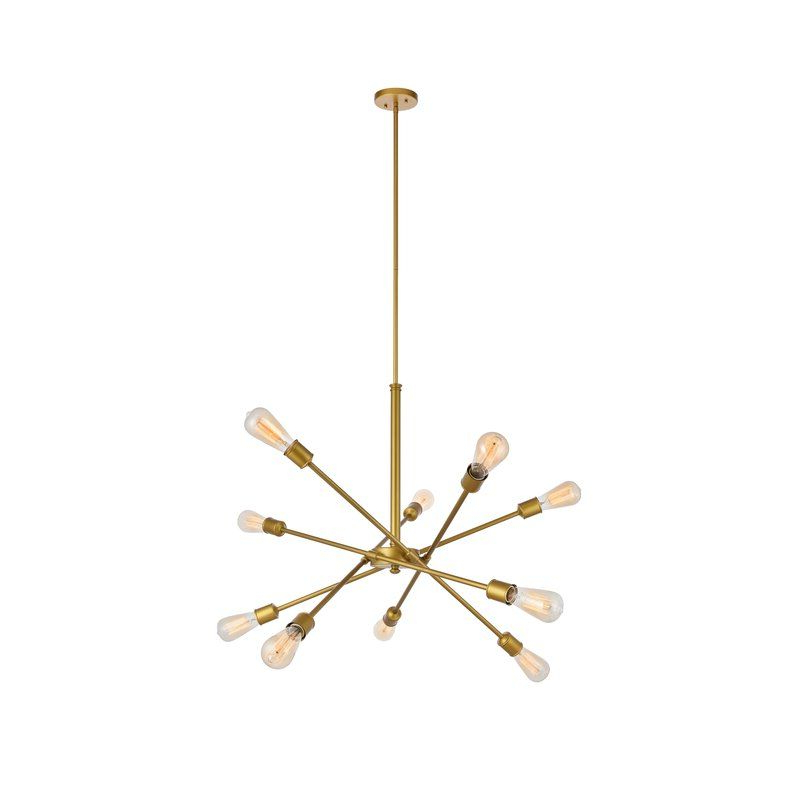 Everett 10 Light Sputnik Chandeliers In Trendy Pin On Yeni Design Ideas (View 4 of 25)