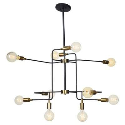Everett 10 Light Sputnik Chandeliers Regarding Favorite Modern Rustic Interiors Fatima 10 Light Sputnik Chandelier Modern Rustic Interiors (View 19 of 25)