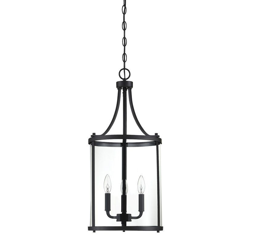 Ezio 3 Light Lantern Cylinder Pendant (View 17 of 25)