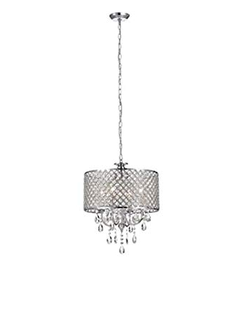 Fabulous Aurore 4  Light Led Drum Chandelier, Plastic Within Famous Aurore 4 Light Crystal Chandeliers (View 13 of 25)