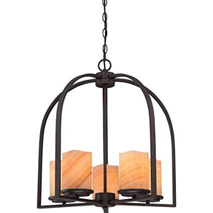 Famous Aldora 4 Light Candle Style Chandeliers With Regard To Quoizel Ckad5005Pn Aldora With Palladian Bronze Finish, Chandelier And 5  Lights, Brown (View 9 of 25)
