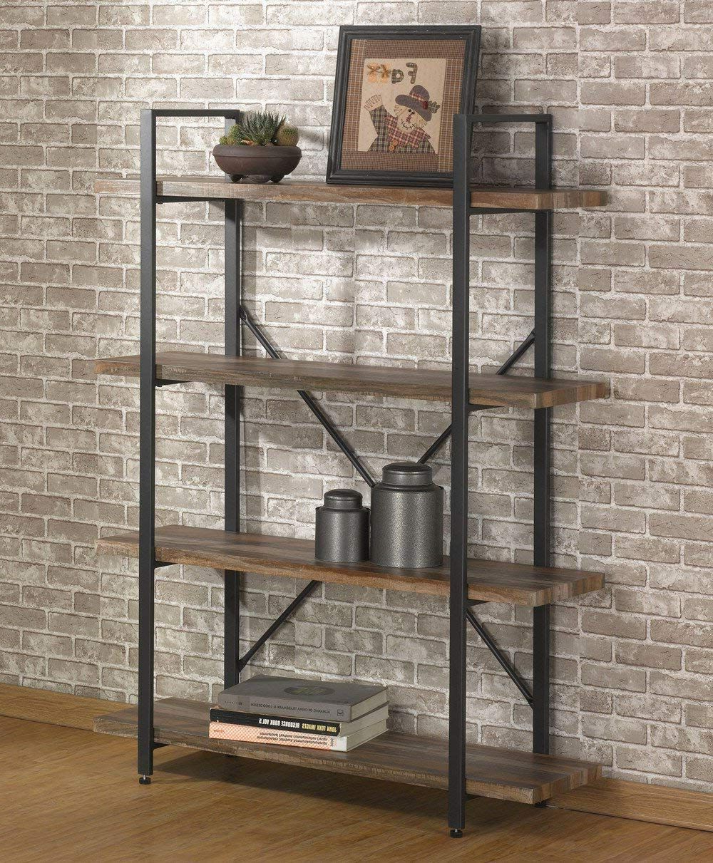 Famous Amazon: O&k Furniture Double Wide 5 Tier Open Bookcases In Babbitt Etagere Bookcases (View 10 of 20)