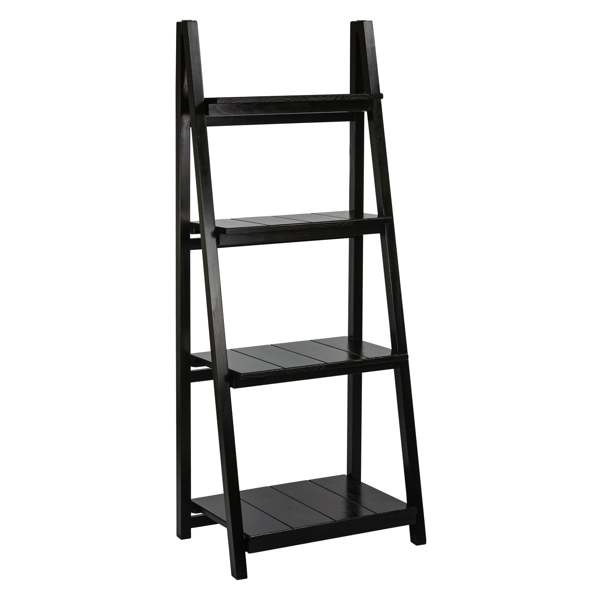 Famous Andover Mills Bordelon Slatted Ladder Bookcase Within Blevens A Frame Ladder Bookcases (View 20 of 20)