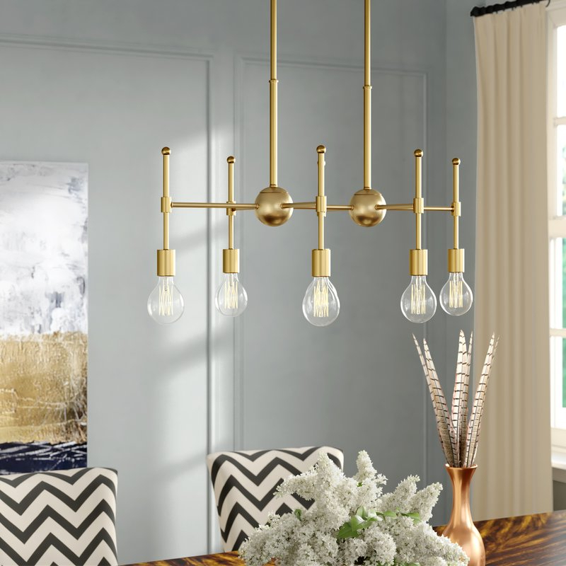 Famous Bautista 6 Light Sputnik Chandeliers For Bautista 6 Light Kitchen Island Bulb Pendant (View 20 of 25)