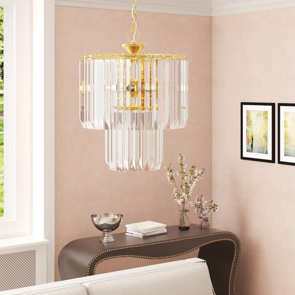 Famous Benedetto 5 Light Crystal Chandelier In (View 3 of 25)