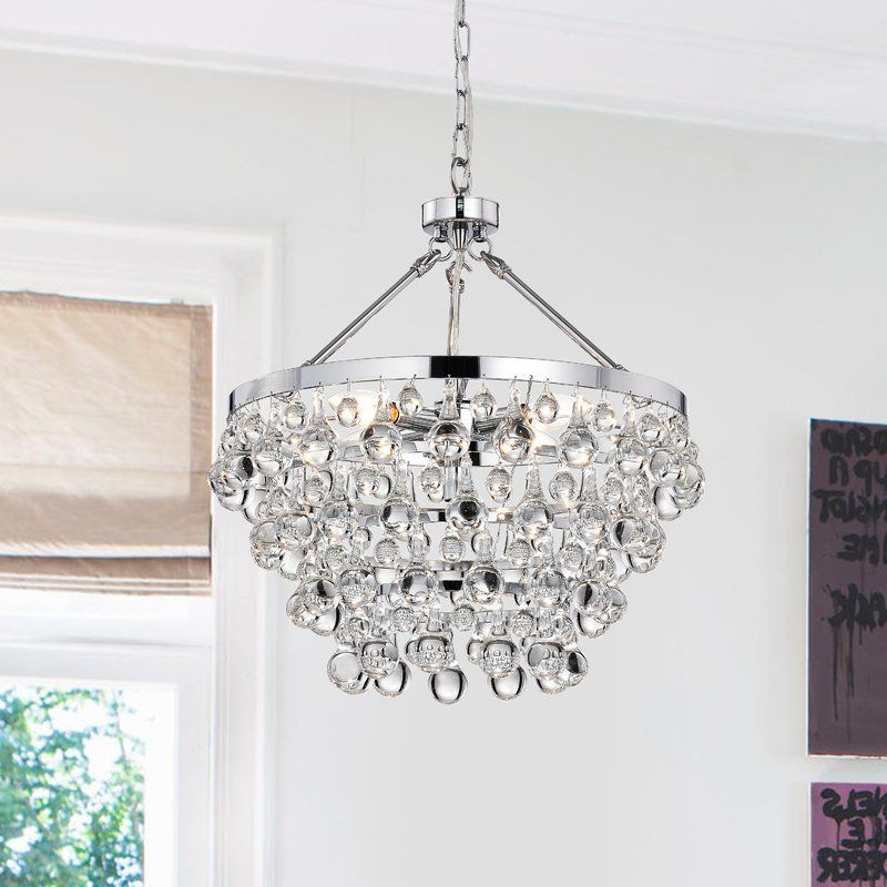 Famous Bramers 6 Light Novelty Chandeliers With Ahern 5 Light Crystal Chandelier (View 15 of 25)
