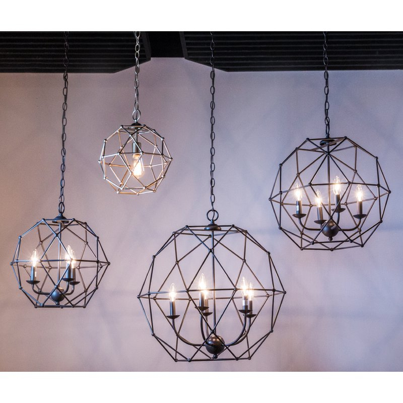 Famous Cavanagh 4 Light Geometric Chandeliers With Mercury Row Cavanagh 4 Light Geometric Chandelier (View 14 of 25)