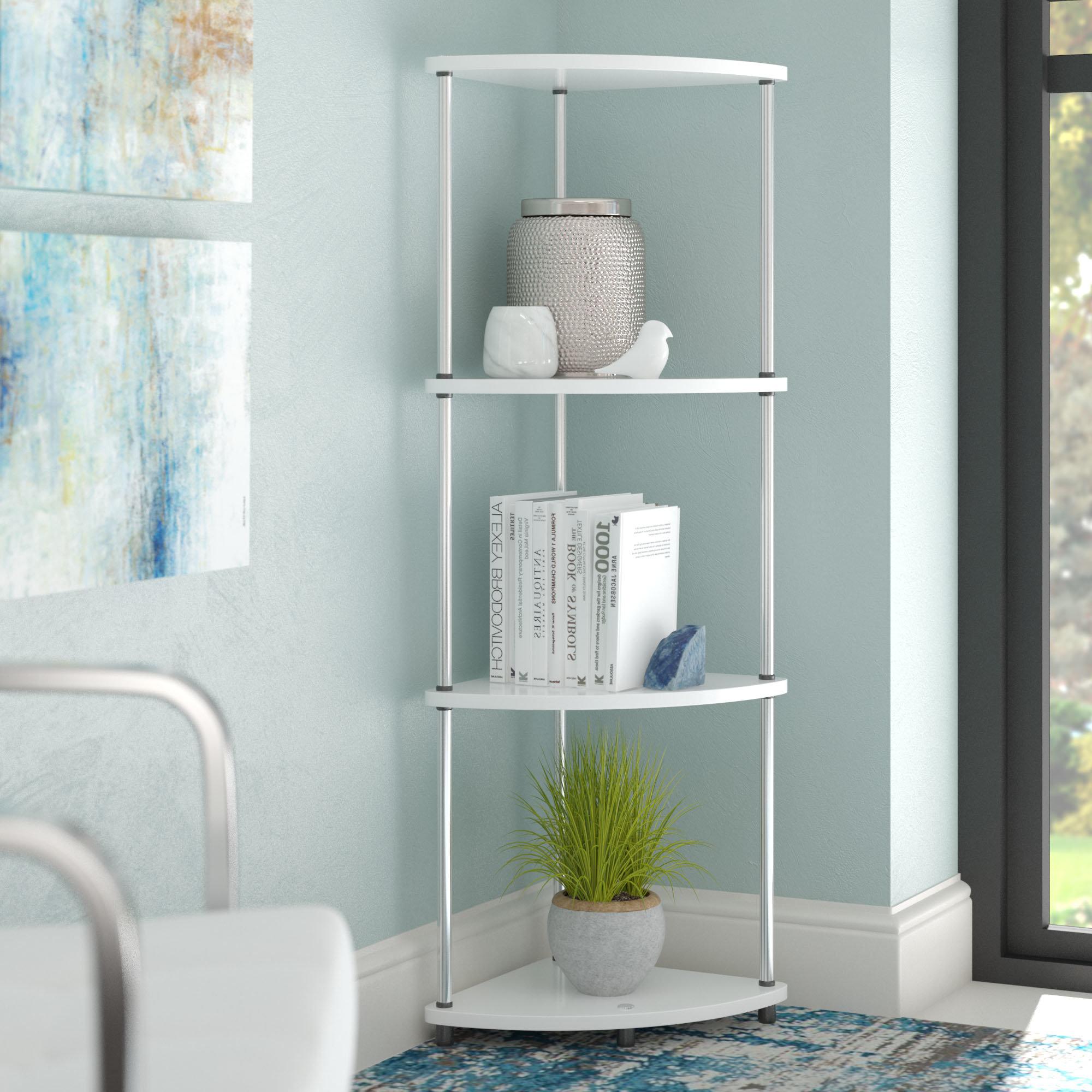 Famous D'aulizio 4 Tier Corner Unit Bookcase Regarding Duerr Corner Unit Bookcases (View 8 of 20)