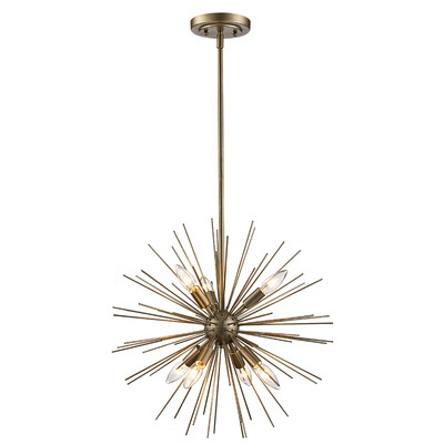 Famous Everett 10 Light Sputnik Chandeliers Inside Trent Austin Design Antonie 7 Light Sputnik Chandelier (View 23 of 25)