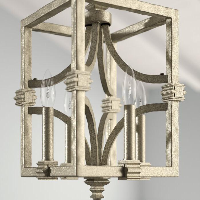 Famous Freeburg 4 Light Lantern Square / Rectangle Pendants Inside Freeburg 4 Light Lantern Square / Rectangle Pendant (View 5 of 25)