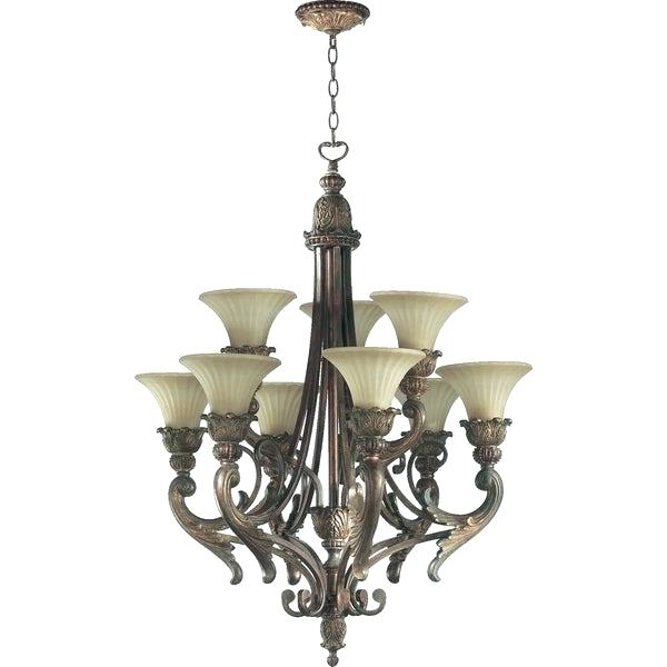 Famous Giverny 9 Light Candle Style Chandeliers Inside 9 Light Chandelier Portfolio Oil Rubbed Bronze – Satoshisays (View 7 of 25)