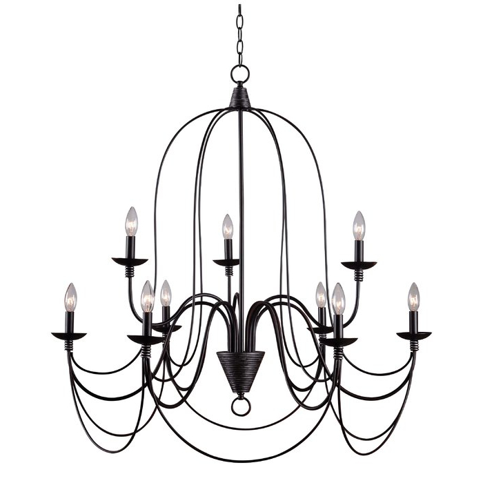 Famous Giverny 9 Light Candle Style Chandeliers With Watford 9 Light Candle Style Chandelier (View 8 of 25)