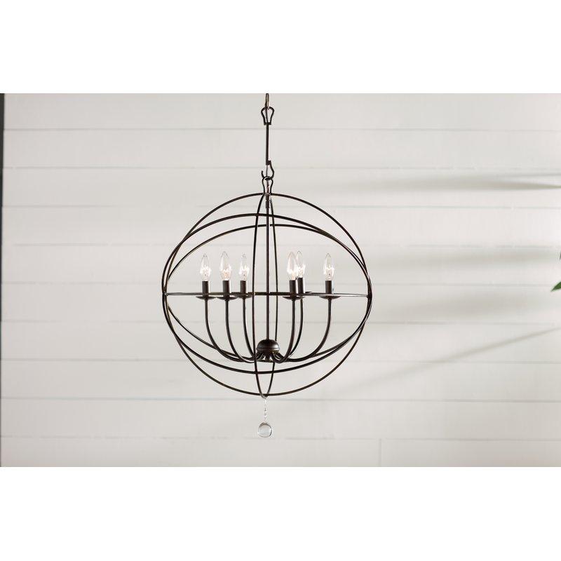 Famous Gregoire 6 Light Globe Chandelier Throughout Gregoire 6 Light Globe Chandeliers (View 5 of 25)