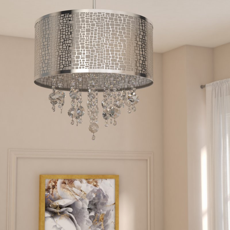 Famous Jill 4 Light Drum Chandeliers Intended For Jill 4 Light Drum Chandelier (View 2 of 25)