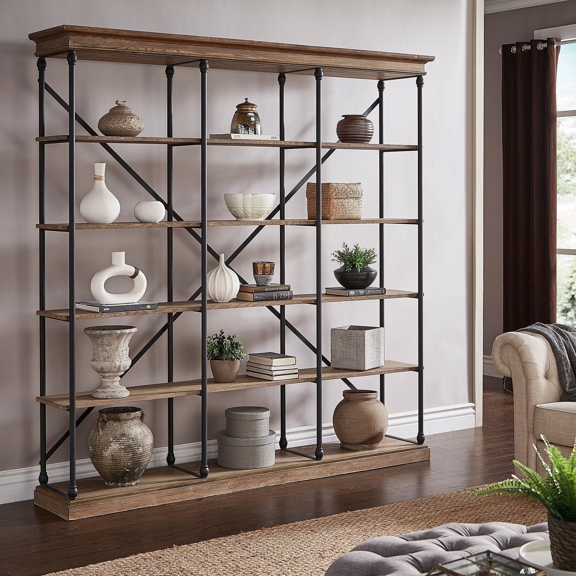Famous Mabie Library Bookcases Pertaining To Barnstone Cornice Triple Shelving Bookcaseinspire Q (View 13 of 20)