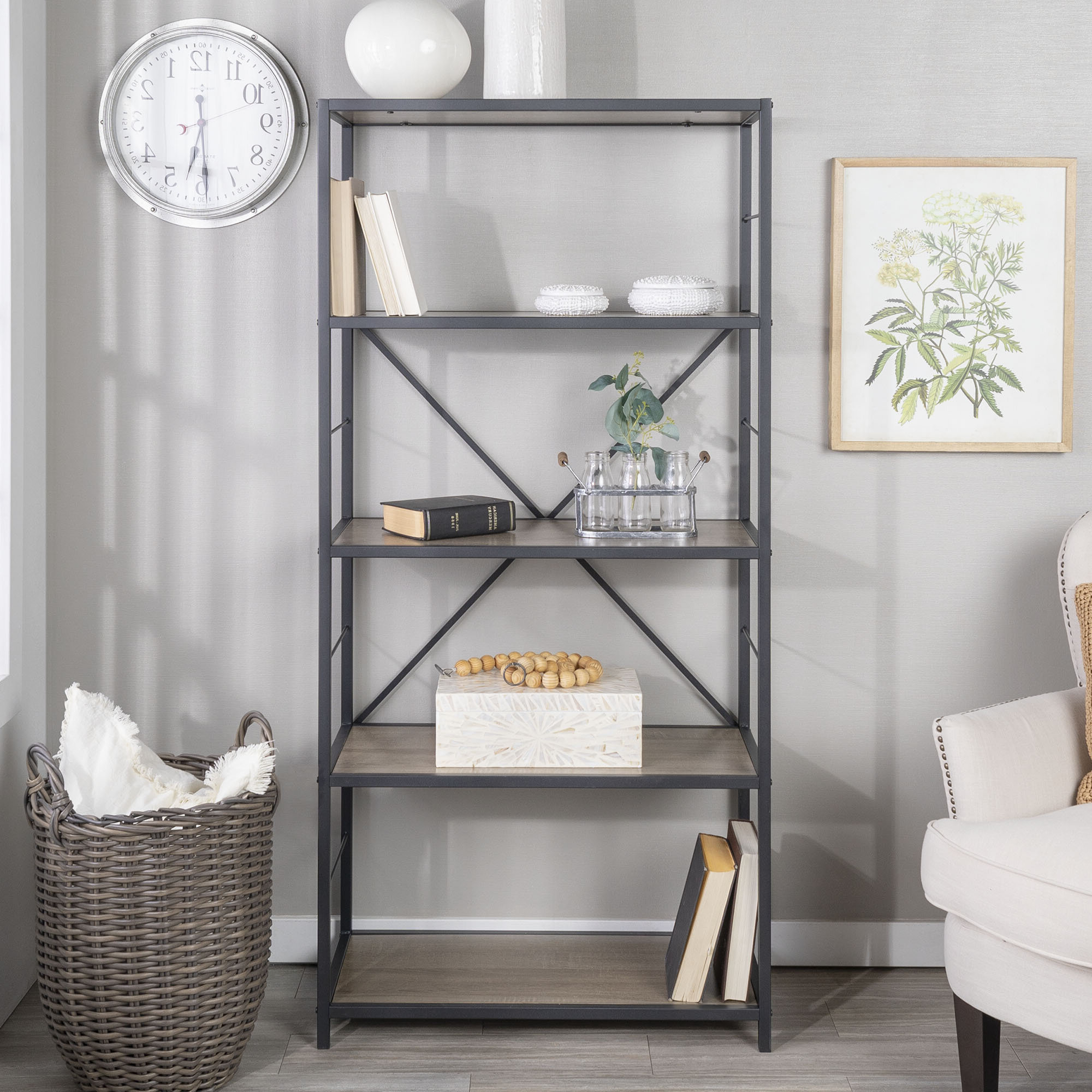Famous Macon Etagere Bookcases With Regard To Greyleigh Macon Etagere Bookcase (View 8 of 20)