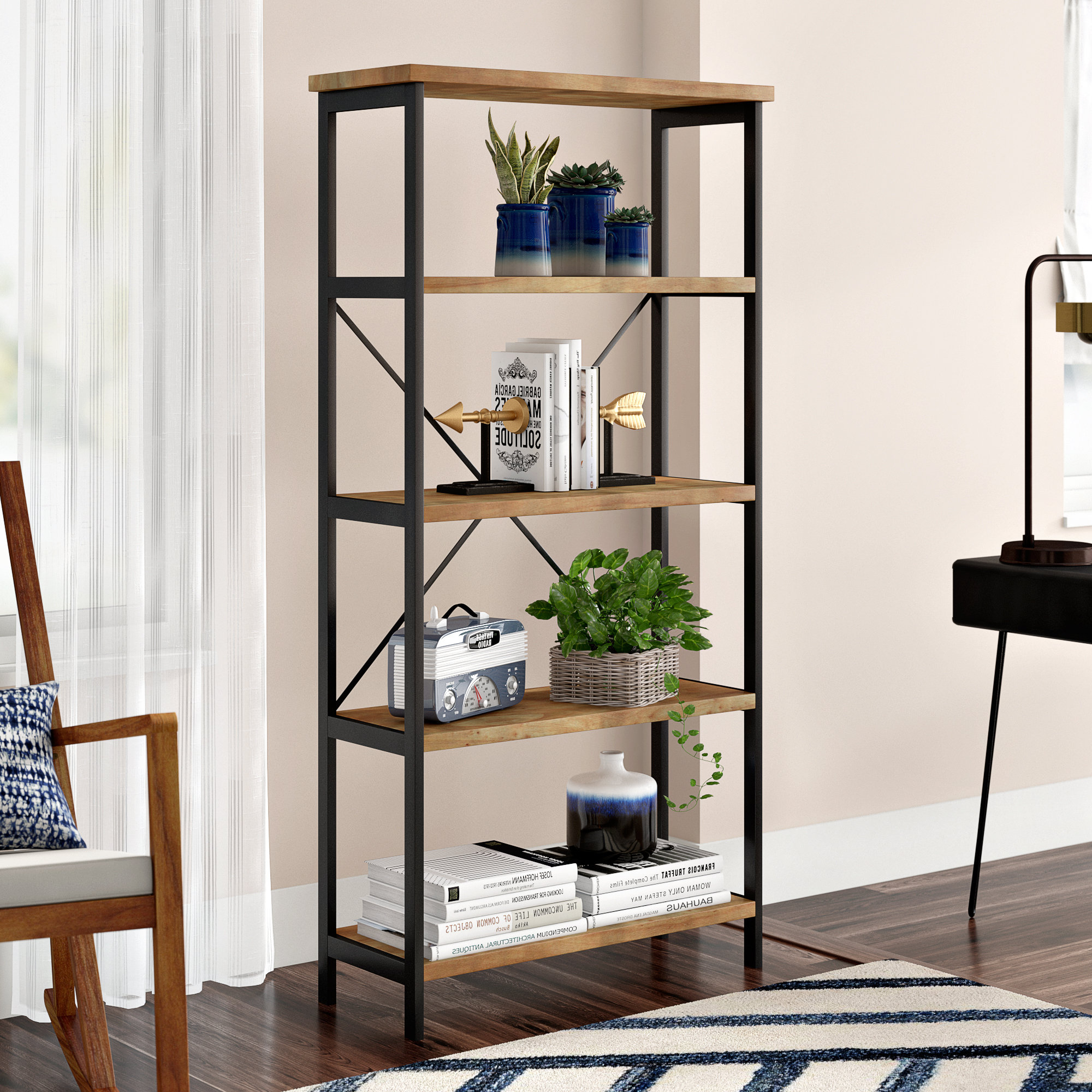Famous Parthenia Etagere Bookcase Inside Hera Etagere Bookcases (View 3 of 20)