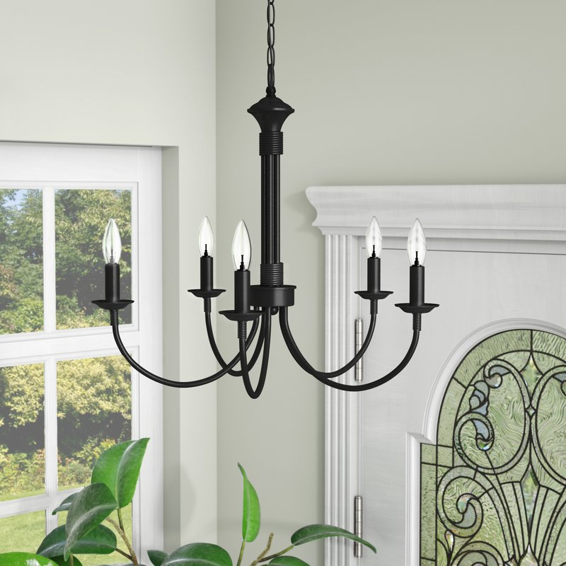 Featured Photo of Shaylee 5 Light Candle Style Chandeliers