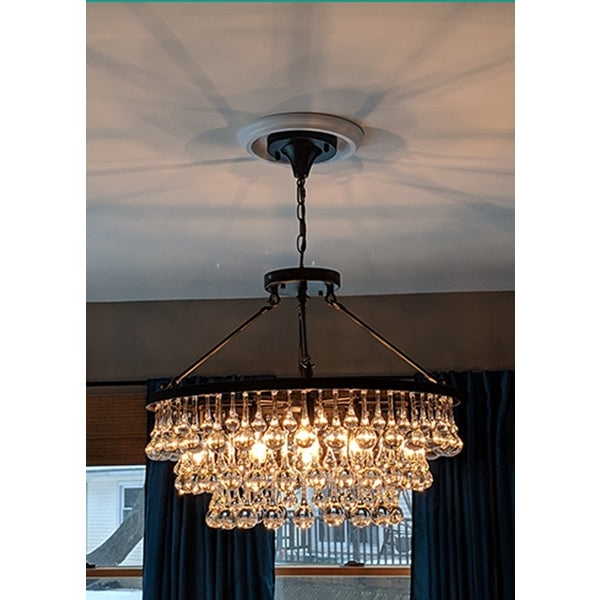 Famous Shop Arosa 9 Light Black Semi Flush Mount – On Sale – Free Inside Mcknight 9 Light Chandeliers (View 7 of 25)