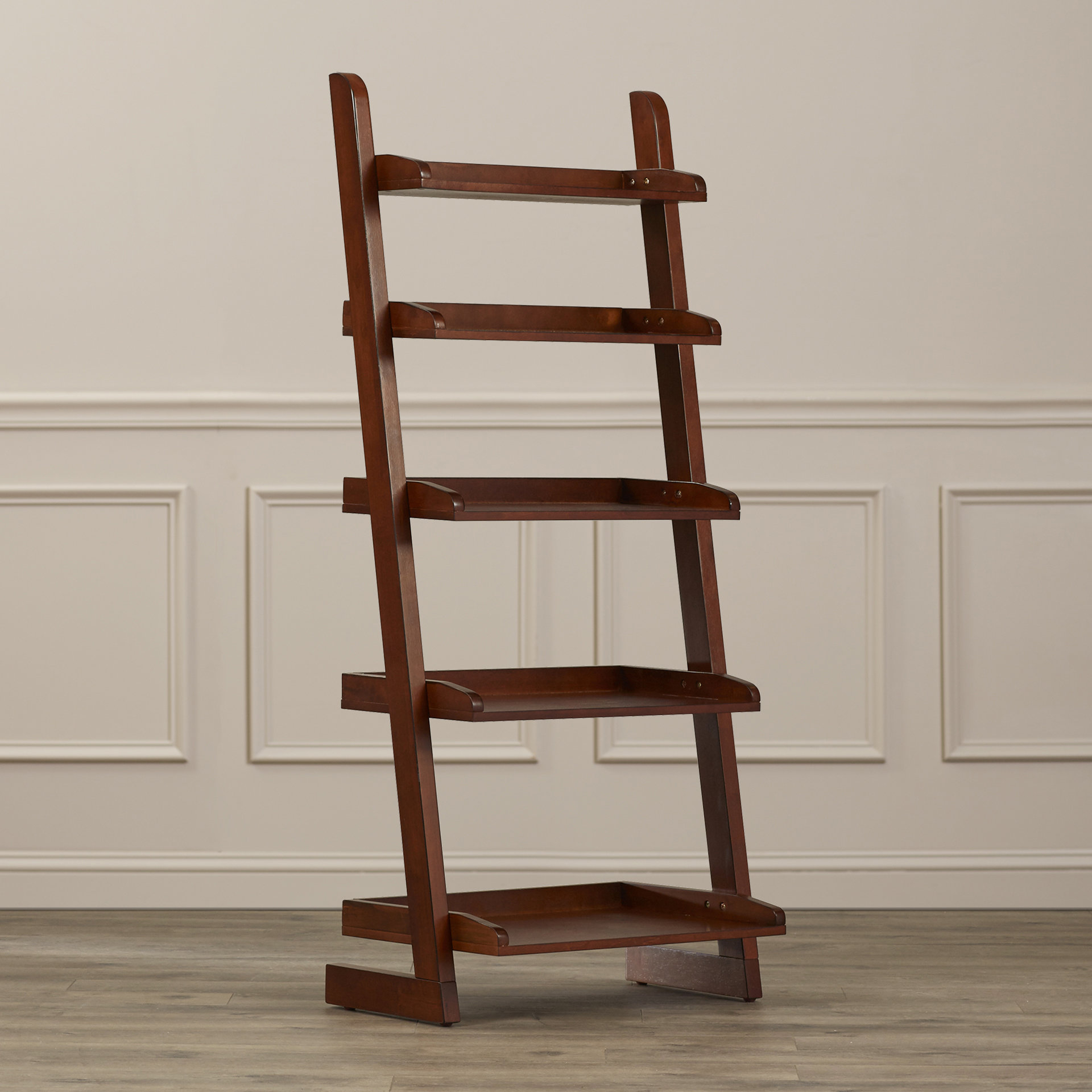 Famous Silvestri Ladder Bookcase Pertaining To Kaitlyn Ladder Bookcases (View 19 of 20)