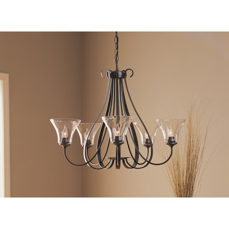 Famous Sweeping Taper 5 Light Chandelier Inside Kenna 5 Light Empire Chandeliers (View 7 of 25)