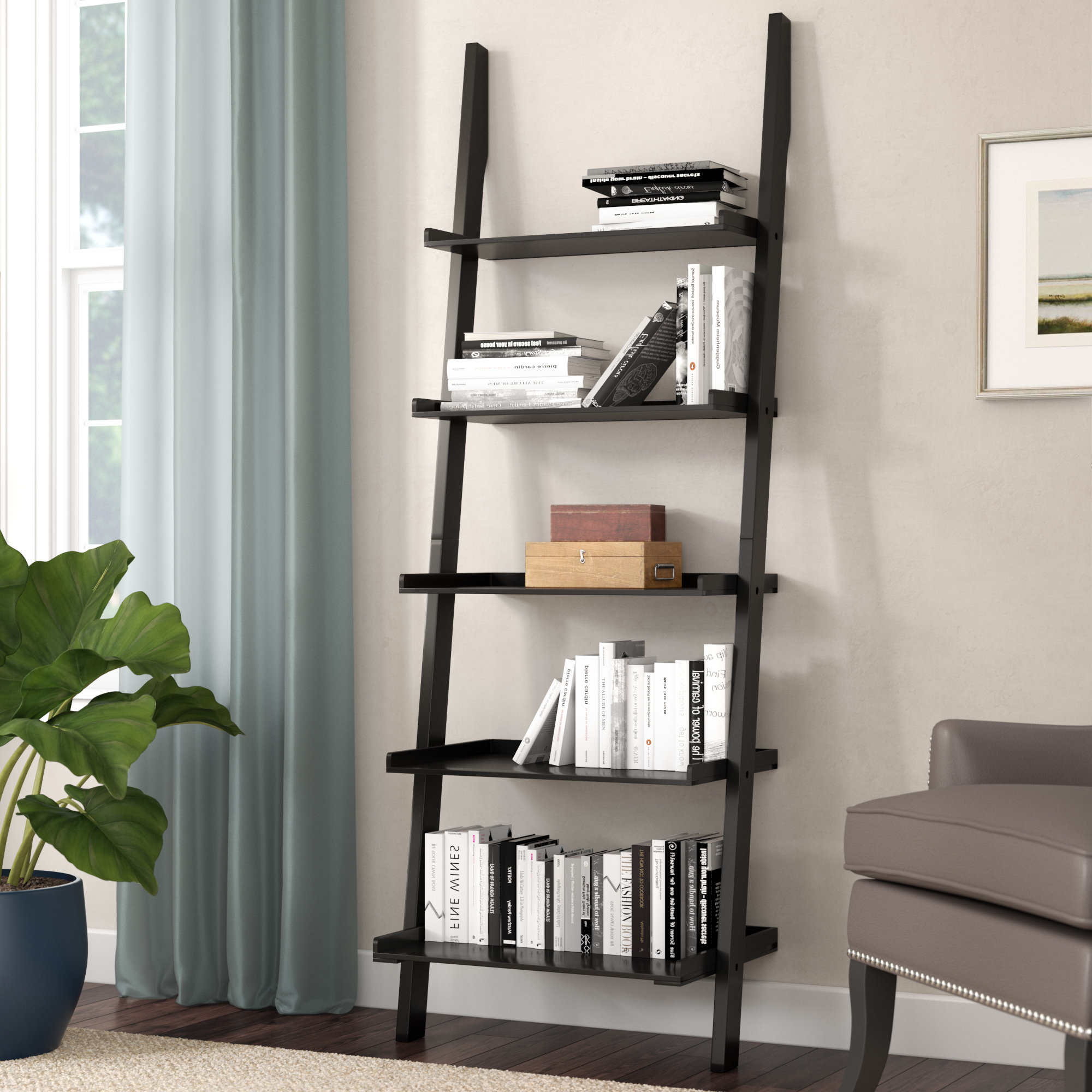 Famous Tyringham Ladder Bookcase For Blevens A Frame Ladder Bookcases (View 8 of 20)