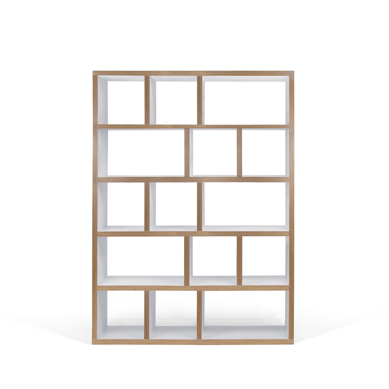 Famous Varga 5 Level Geometric Bookcase & Reviews (View 2 of 20)