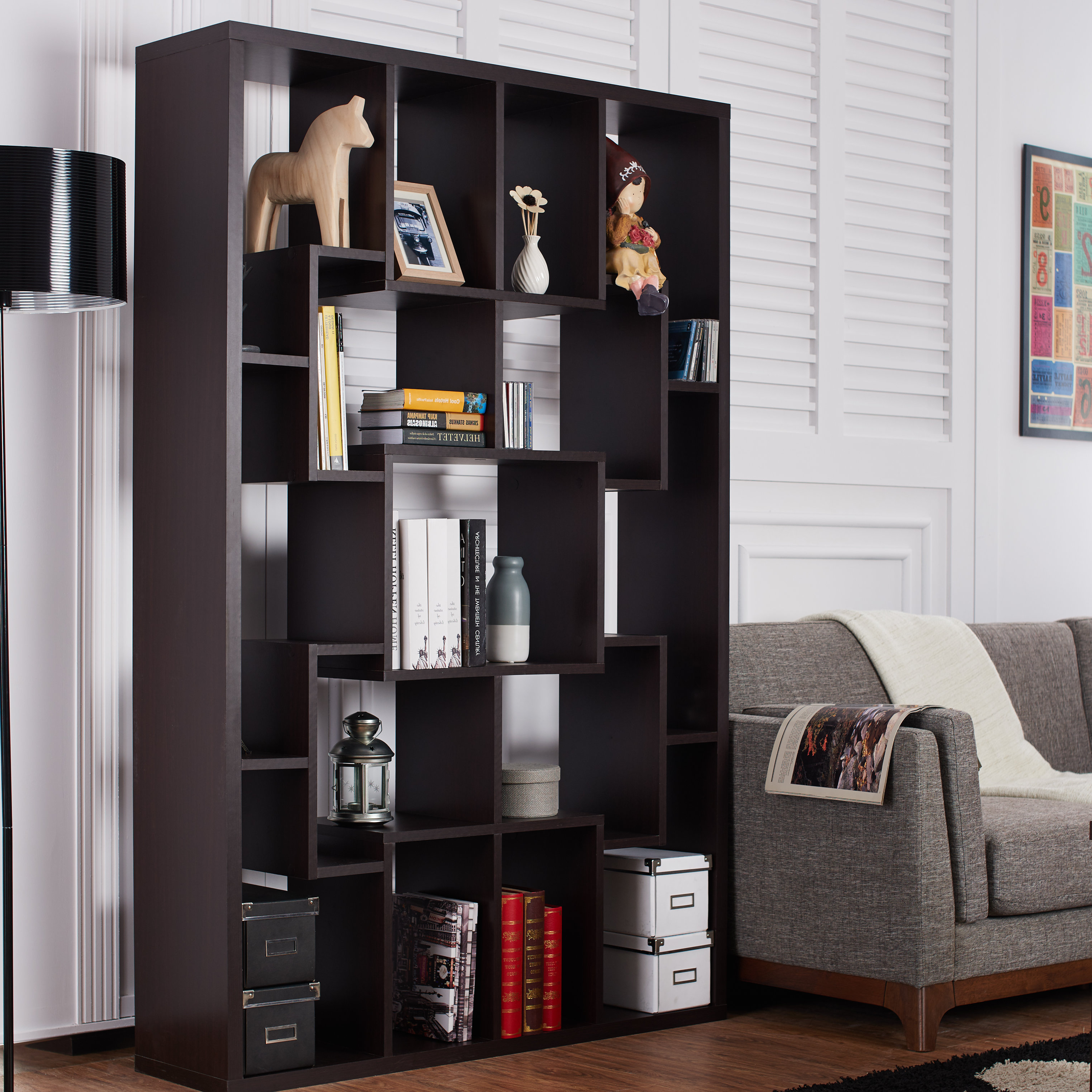Farmhouse & Rustic Cube Bookcases & Bookshelves (View 4 of 20)