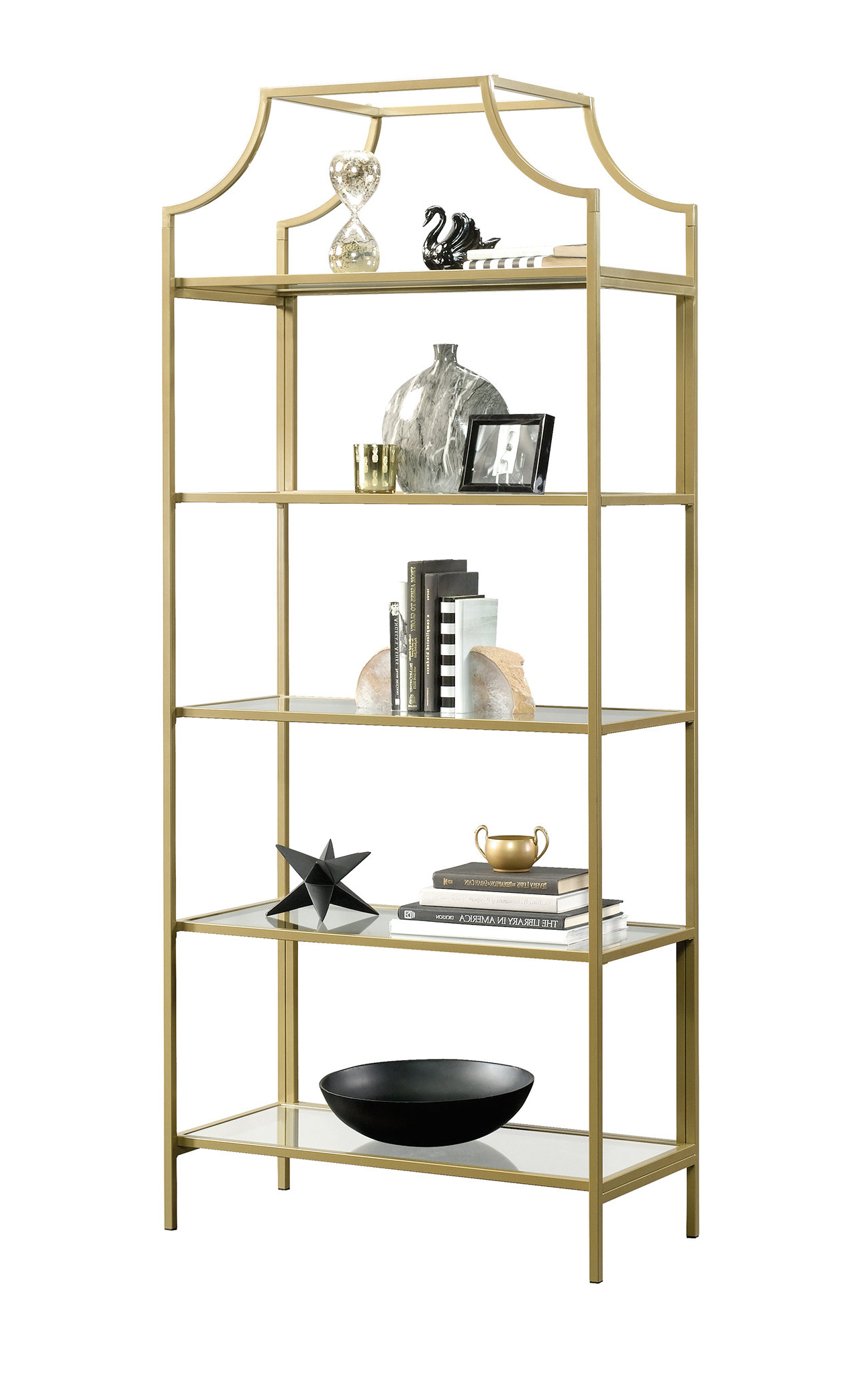 Farmhouse & Rustic Glass Bookcases & Bookshelves (View 8 of 20)