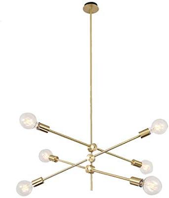 Fashionable Amazon: Bonlicht Modern Sputnik Chandelier Lighting 6 With Johanne 6 Light Sputnik Chandeliers (Gallery 24 of 25)