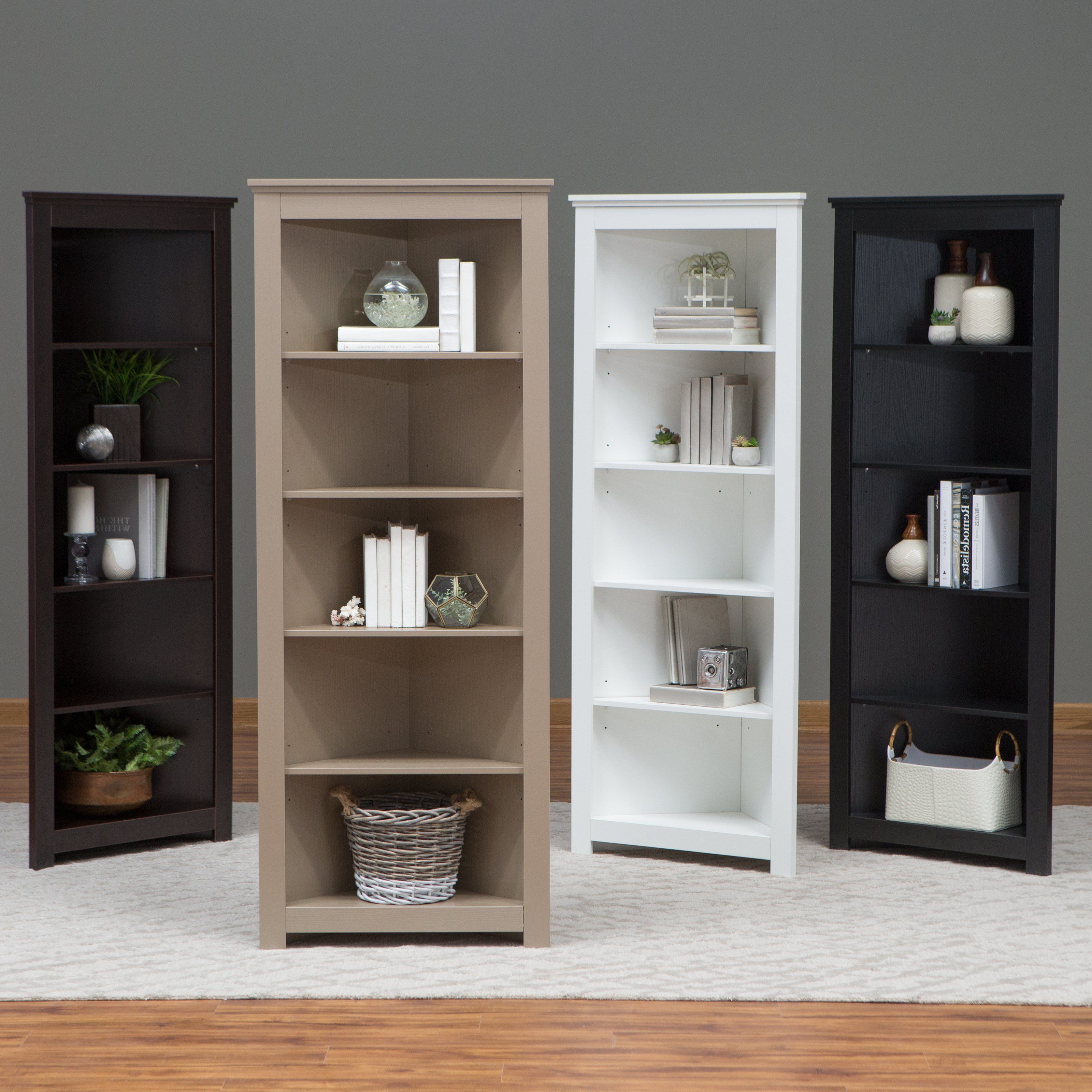 Fashionable Ardenvor Corner Bookcases With Regard To Finley Home Redford Corner Bookcase – Finally, The Place (View 17 of 20)