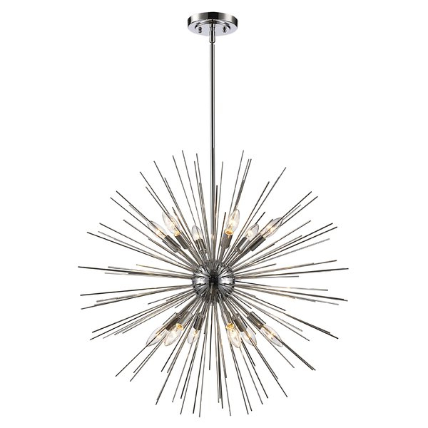 Fashionable Asher 12 Light Sputnik Chandeliers Inside Modern & Contemporary Byler 12 Light (View 8 of 25)