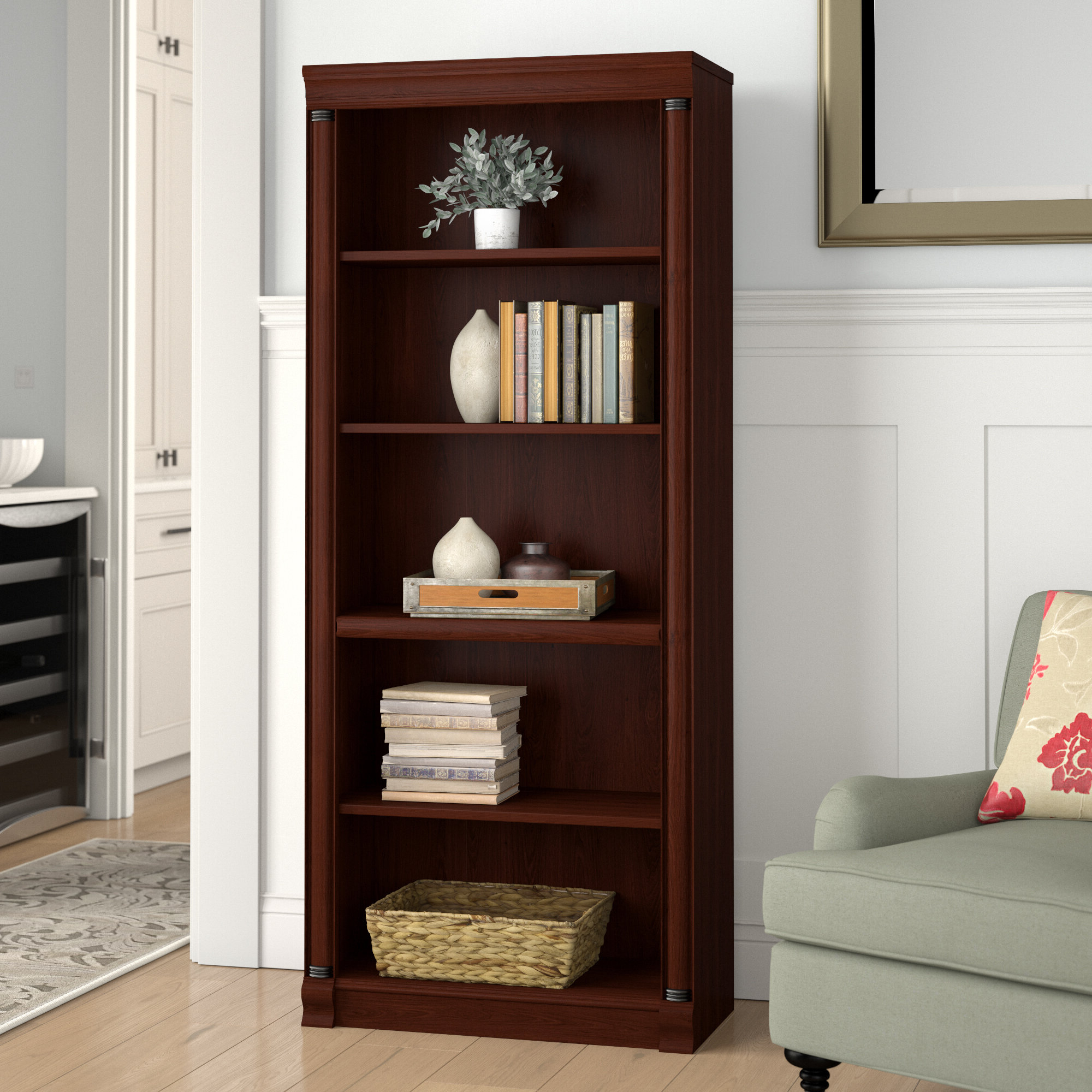 Fashionable Birmingham Standard Bookcase Pertaining To Ryker Standard Bookcases (View 3 of 20)