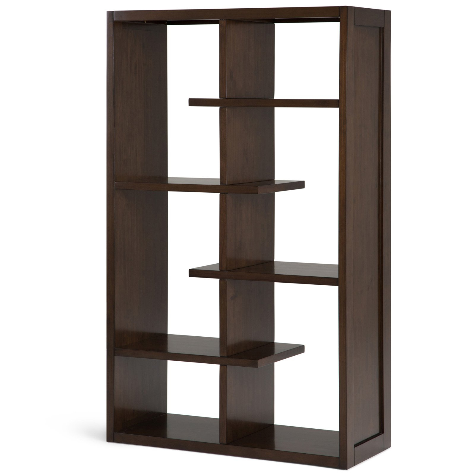 Fashionable Bostic Geometric Bookcases With Simpli Home Camden Bookcase Natural Aged Brown (View 19 of 20)