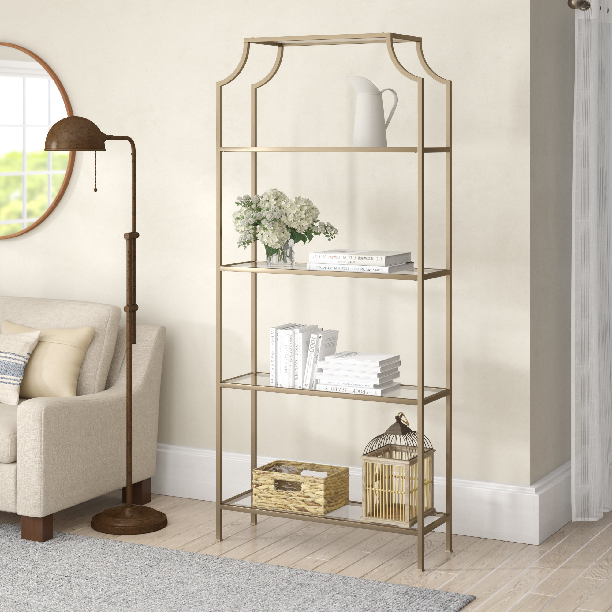 Fashionable Buchanan Etagere Bookcase (View 11 of 20)