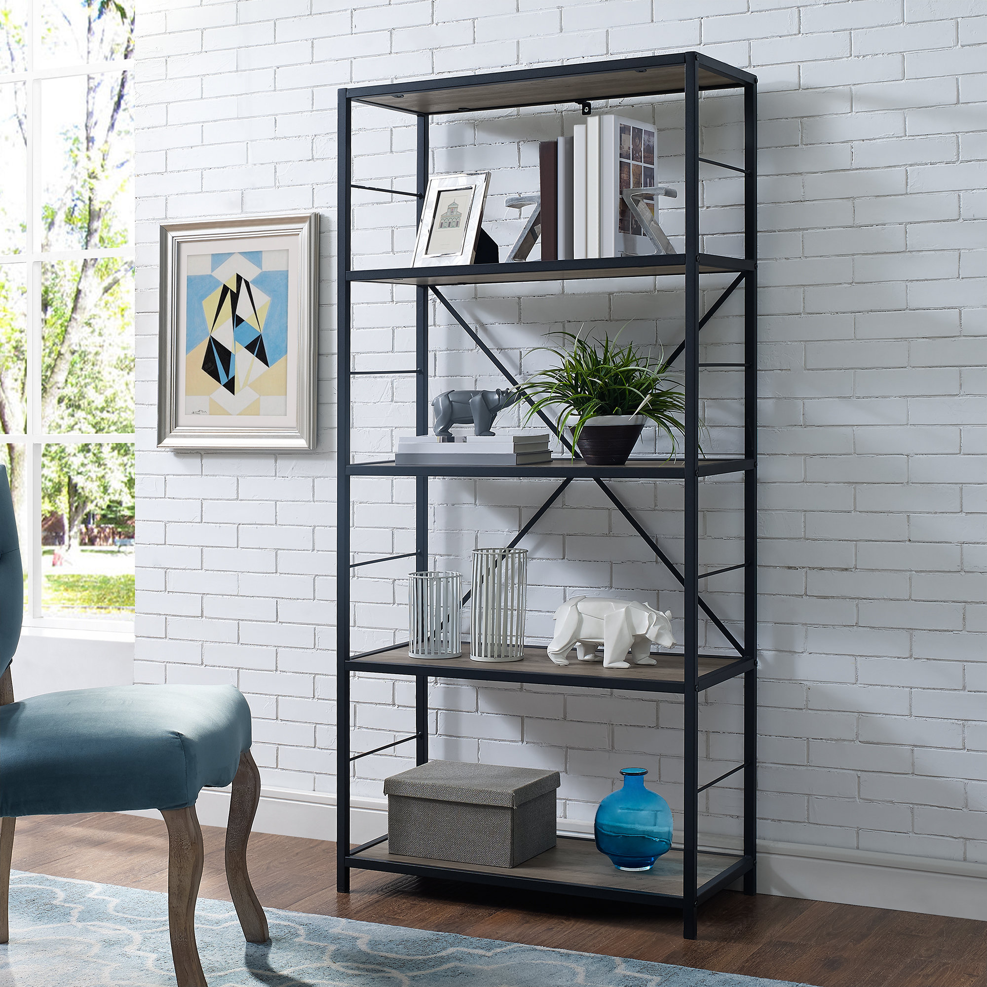 Fashionable Caitlyn Etagere Bookcases Inside Macon Etagere Bookcase (View 10 of 20)