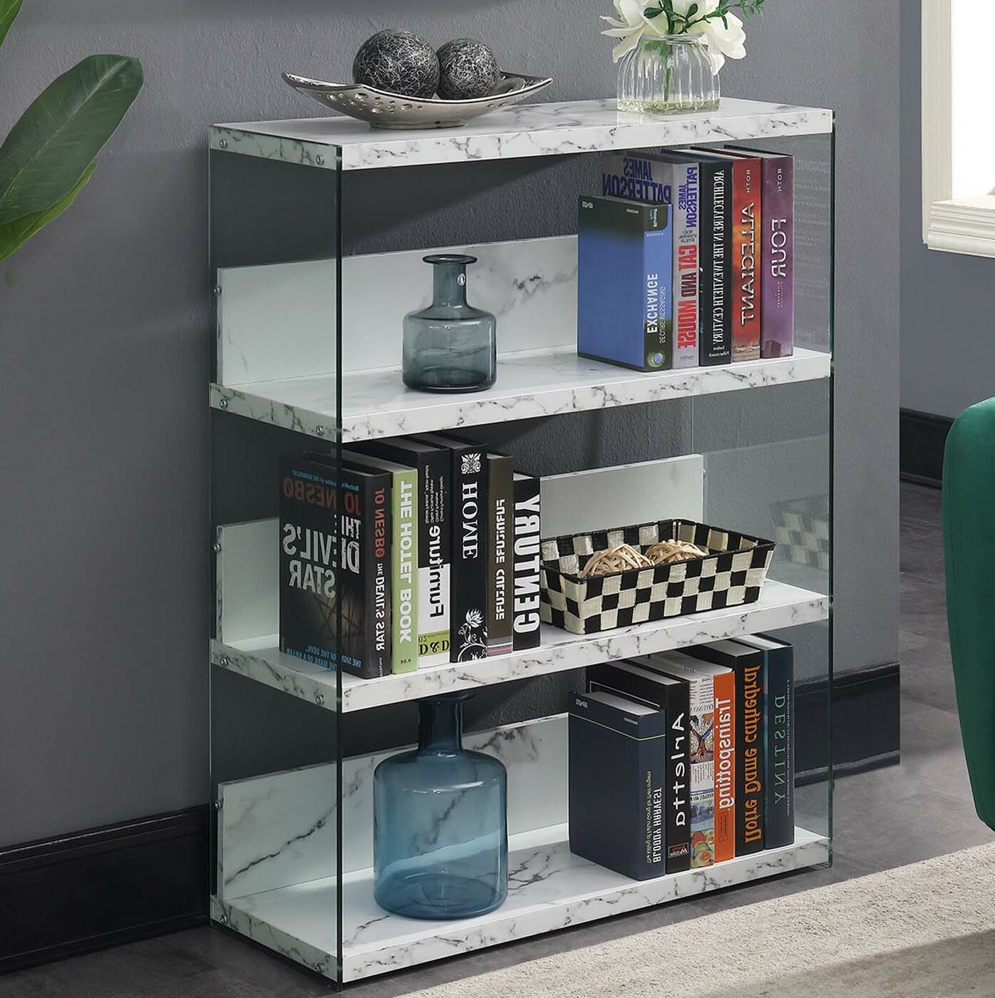 Fashionable Calorafield 4 Tier Standard Bookcase Pertaining To Daria Standard Bookcases (View 13 of 20)
